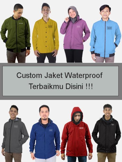 Custom Jaket Waterproof Terbaikmu Disini !!!