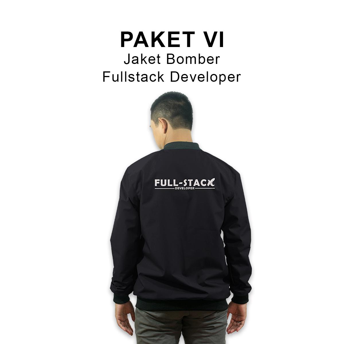 PAKET VI :  Jaket Bomber Fullstack Developer