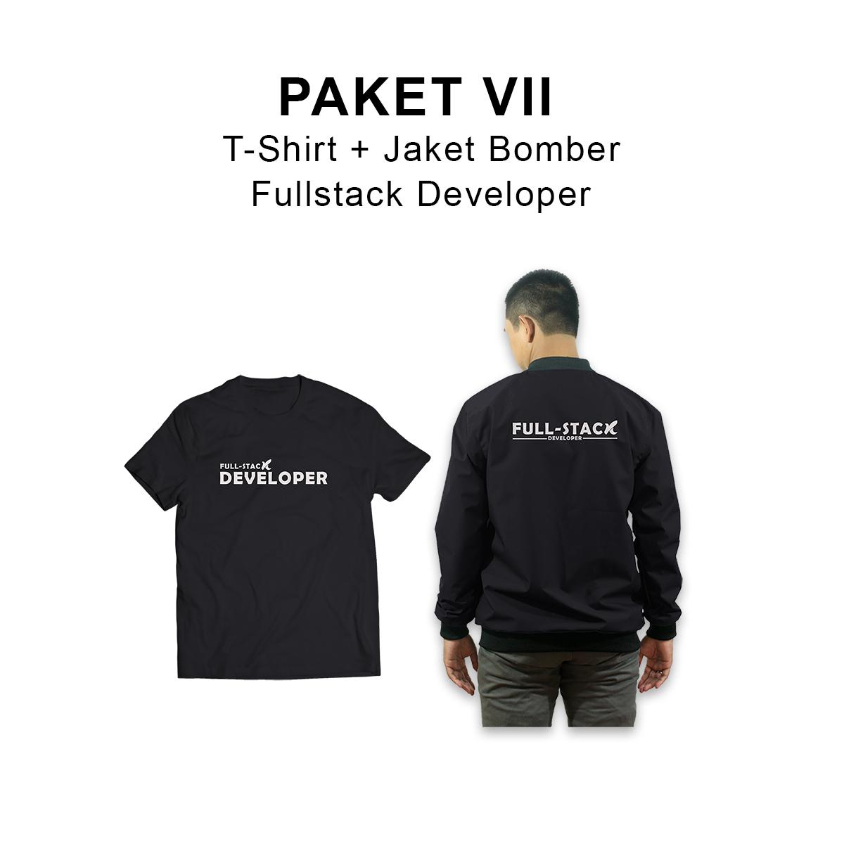 PAKET VII :  T-Shirt + Jaket Bomber Fullstack Developer